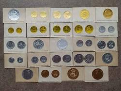 24 db-os ritka érme lenyomat a háború előtti időkből. (id36547)