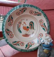 33 cm átmérőjű kakasos falitányér, tányér, nosztalgia darab