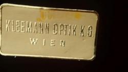 Art Deco Kleemann Optik KG WIEN Cvikker Tartó, Tökéletes Állapotú Doboz és Jelzett !