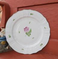 Herendi  Tertia 27 cm-es őszi rózsás  tányér  lapostányér,.kínáló, Nosztalgia, Gyűjtői darab