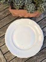 Szép szélü régi krém fehér tányér