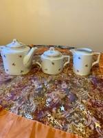 Zsolnay antik pajzspecsétes aranyozott nagyméretű teás készlet az 1930 -as évekből