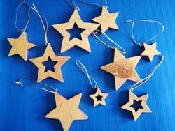 Antikolt arany csillag fa karácsonyfadíszek