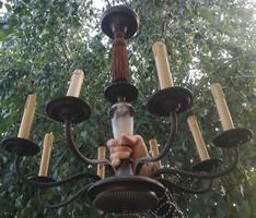 Empire Ampír stílusú ebédlő csillár! Kosfejes díszes, kúria, vadászkastélyba elegáns luxus lámpa