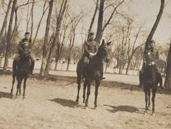 Régi lovas katona fotó 1928 fénykép csoportkép képeslap