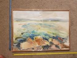 Somlai Vilma akvarell festménye