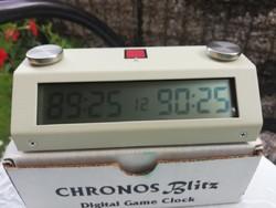 Chronos Blitz digitális sakk óra gyűjtői darab
