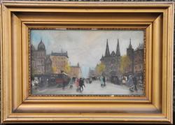 Berkes Antal (1874-1938): Nagyvárosi utcakép a századfordulóról