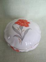 Drasche porcelán szegfűs bonbonier vagy ékszertartó doboz