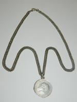1914 III. Ludwig 3 márkás D veret ezüst nyakláncon