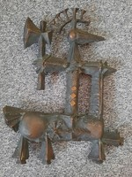 Bronz harcos falikép / Papp Zoltán? /