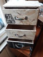 Loft, industrial, ipari vintage jellegu fiókos tároló