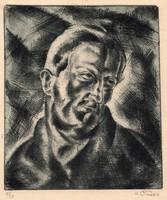 Csabai-Ékes Lajos (1890-1944): Önarckép (Kozma Lajosnak)