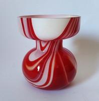 Jelzett Carlo Moretti Studio Murano modernista üveg váza, cca. 1970 Itália