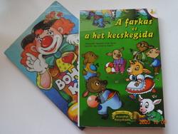 Két szép leporelló mesekönyv a legkisebbeknek: Bohóckönyv + A farkas és a hét kecskegida