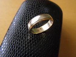 Arany női karikagyűrű, 14 karátos, bicolor