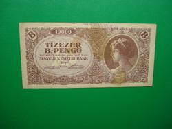 10000 Bil-pengő 1946 Postatakarékpénztár pecséttel!
