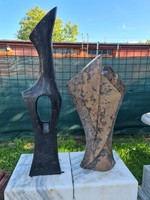 Modern art deco/absztrakt márvány szobrok