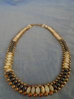 Igazán antik ásvány női nyaklánc etiop tejopál és hematit ásván igazi kuriózum