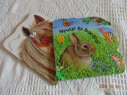 Két szép kemény lapos mesekönyv: Nyuszi és barátai + Barátaim, az állatok - ló