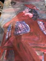 Balázs János köre, 60 x 40 cm, vegyestechnika festmény.