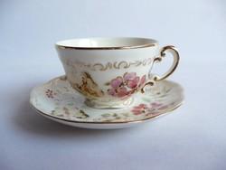 Zsolnay Pillangó mintás kávés csésze és alj