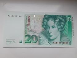NSZK  20 márka 1993 UNC