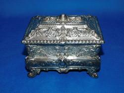 Ezüst Barokk cukros  doboz  460 g