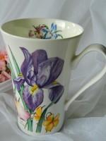 Roy Kirkham angol porcelán bögre, írisz
