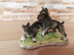 Porcelán kutyák jelzett Echt Altmann hibátlan állapot
