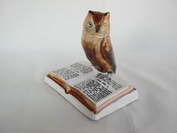 Bodrogkeresztúri kerámia könyves bagoly