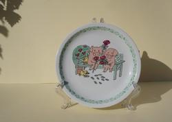 Villeroy & Boch porcelán gyerek tányér mesemintás tányér Alföldi porcelán