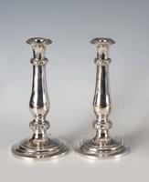 Ezüst antik bécsi. bécsirózsás gyertyatartó párban