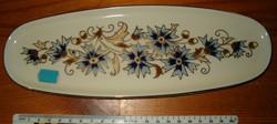 Zsolnay tál tálca búzavirág motívum nagyon szép ovális alakú porcelán KIÁRUSÍTÁS 1 FORINTRÓL
