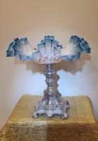 Assztalközép réteges üveg kínálóval