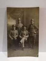 Katona csoportkép fotó képeslap 1918 Május