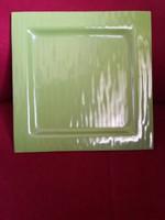 Zöld színű, két rétegű design üveg tál