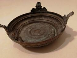 Gyönyörű antik réz tálka, ritka! - 1 forintról, garanciával.