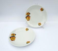 Alföldi porcelán lapostányér süteményes tányér tányérok retro virágmintás Bella virág virágos
