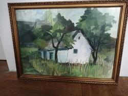 Ismeretlen festő munkája - Erdei házikó (60x81)