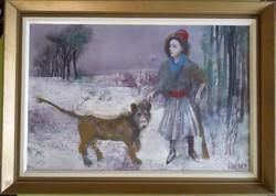 Kádár János Miklós: Diana (40*60 cm) EREDETI
