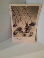 Régi hibátlan húsvéti fotó képeslap
