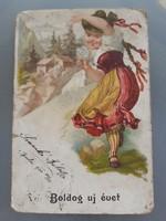 Régi újévi képeslap 1900. év