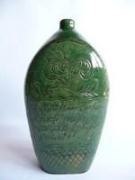 Antik népi kerámia butella 1861-ből