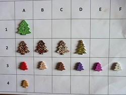 20-40 mm    gomb gyűjteményből scrapbookinghoz, ruhára, táskára, karácsonyfa, fenyő