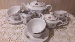 Drasche antik ritka teás készlet, szép állapotban, szép virágos mintával
