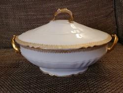 Limoges, 1900-1930 között készült antik levesestal!
