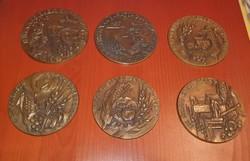 Jelzett bronz plakett sorozat, mezőgazdaság