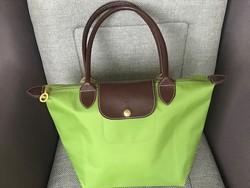 Longchamp  női táska limezöld színben, Le Pliage dizájn