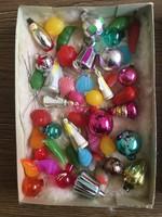 Eladó a képen látható miniatűr karácsonyfa dísz készlet dobozában egyben